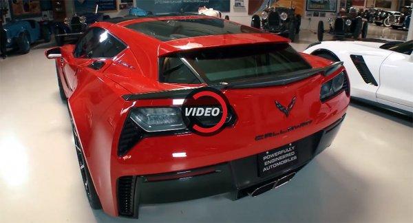 Джей Лено протестировал 757-сильный Corvette Callaway AeroWagen