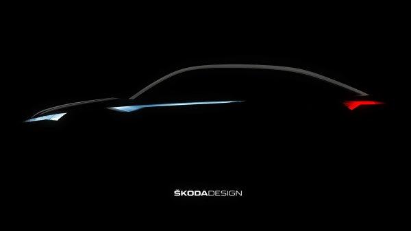 Skoda показала силуэт концептуальной модели Vision E