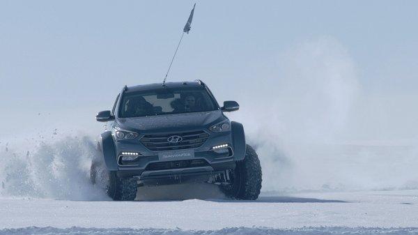 Hyundai Santa Fe первым пересек Антарктиду