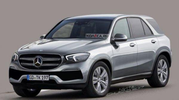 В интернете опубликовали первые рендеры Mercedes-Benz GLE
